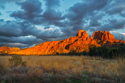 Storm Clouds Over Cathedral Rocks
