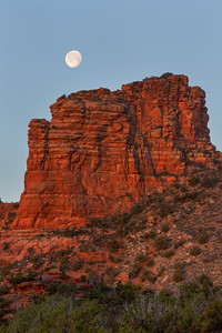 Moonset Over Butte, Sedona