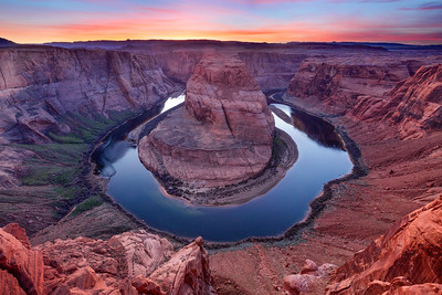 Dusk Sky Over Horseshoe Bend