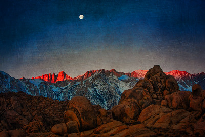 Moonset Over Mt. Whitney