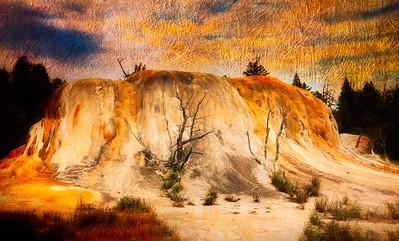 Orange Mound Spring, Yellowtone National Park