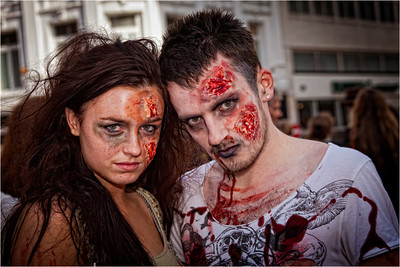 Zombie couple, Taken at the Zombie Walk held in Belfast. this was My favourite of the day