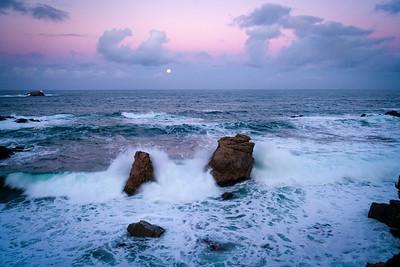 Dawn Moonset