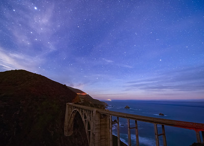 Bixby Bridge and Night Sky