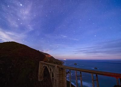 Bixby Bridge and Night Sky