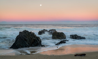 Moonset Over Pacific