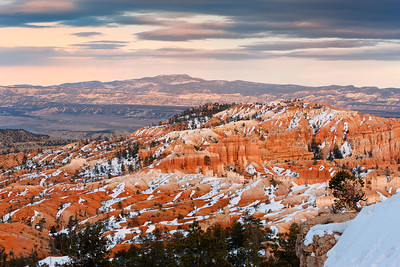 Dusk settles over Bryce Canyon, Bryce Canyon National Park, Utah, USA.