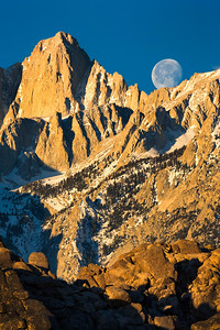 Moonset Behind Mt. Whitney