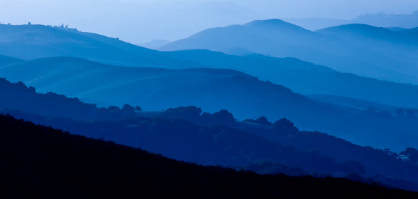 Early light illuminates California's Gabilan Mountain Range, Monterey County, California, USA.