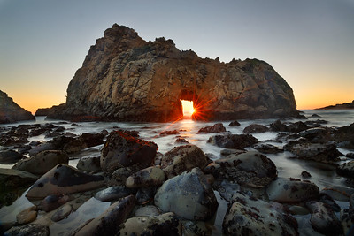 Sunset Warmth, Keystone Arch, Big Sur Coast