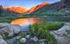 Alpenglow on Peaks Above North Lake