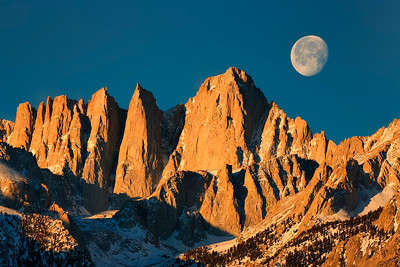 Moonset and Mt. Whitney
