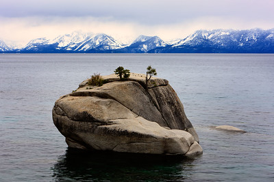 Bonsai Rock, Lake Tahoe, Nevada, USA.