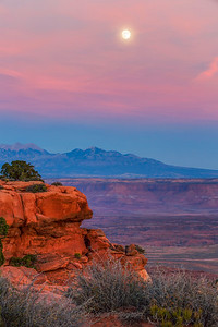 Grandview Moonrise, Canyonlands
