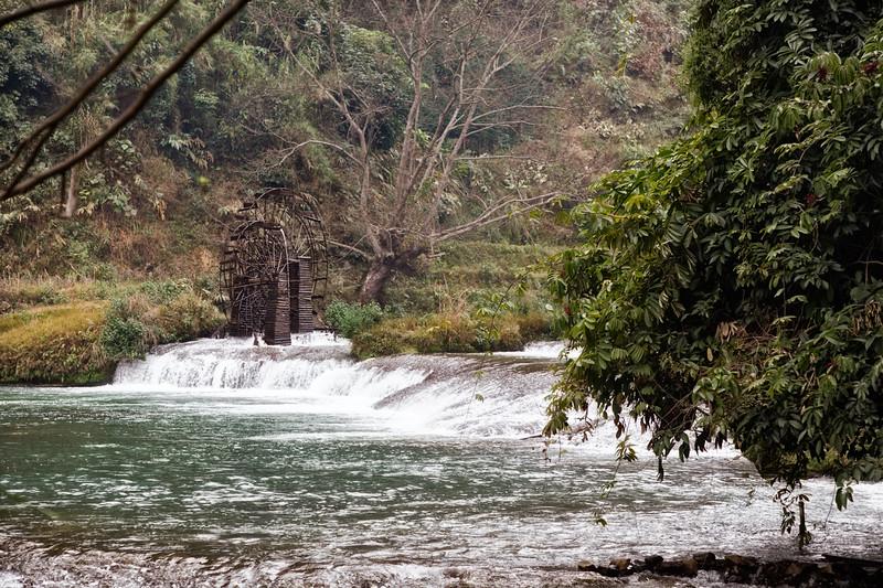 Water Wheel and Waterfall