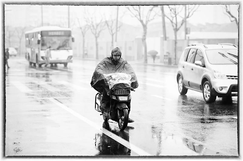 26) Scotter in Rain
