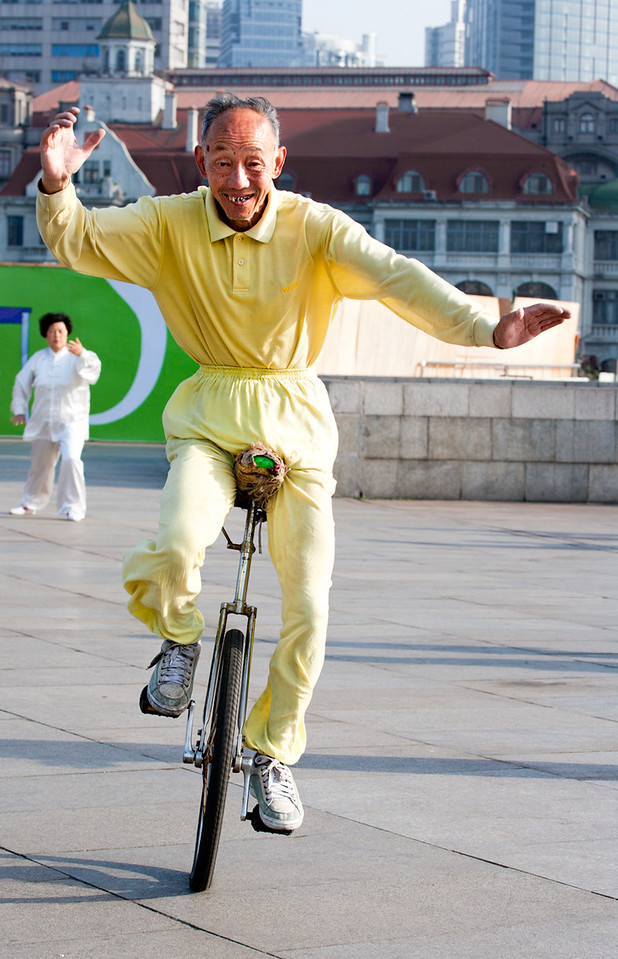89) Yellow UniCycle
