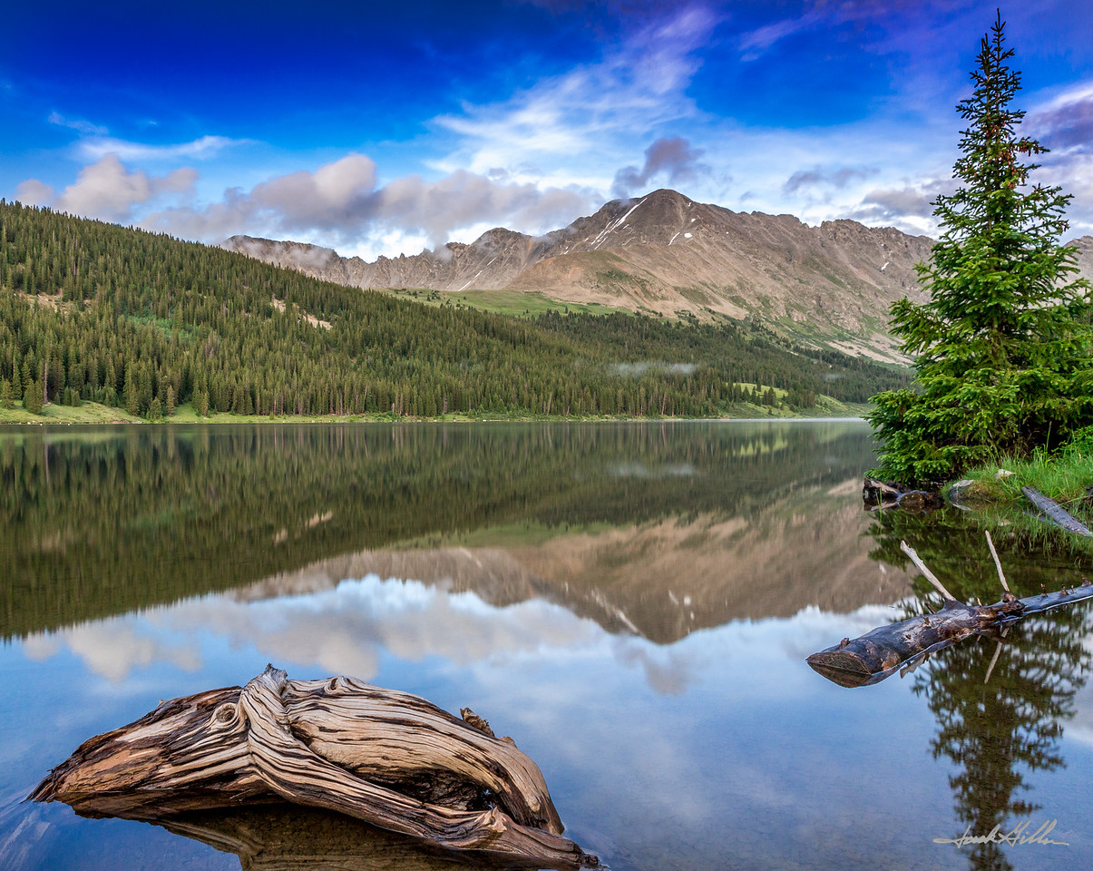 Calm reflection at Clinton Reservoir