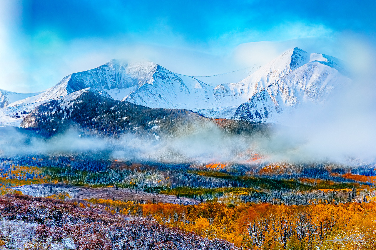 Clearing clouds on Mt Sopris