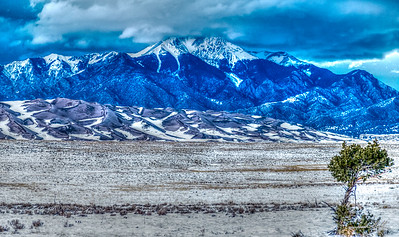 Stormy evening in the Great Sand Dunes