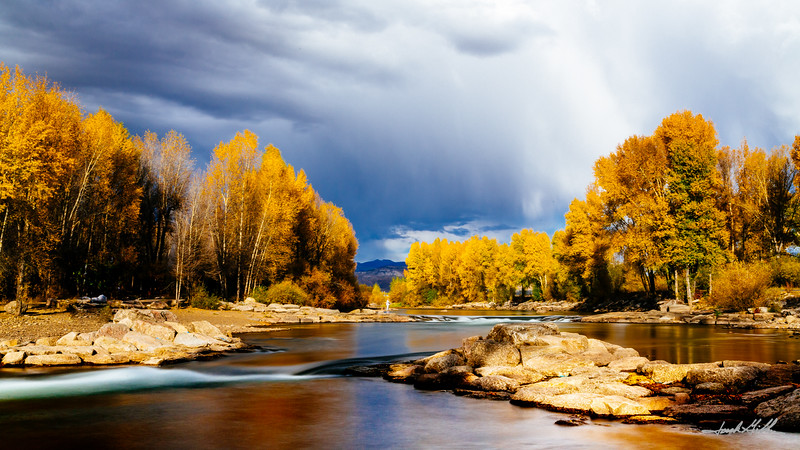 Late afternoon on the Gunnison river