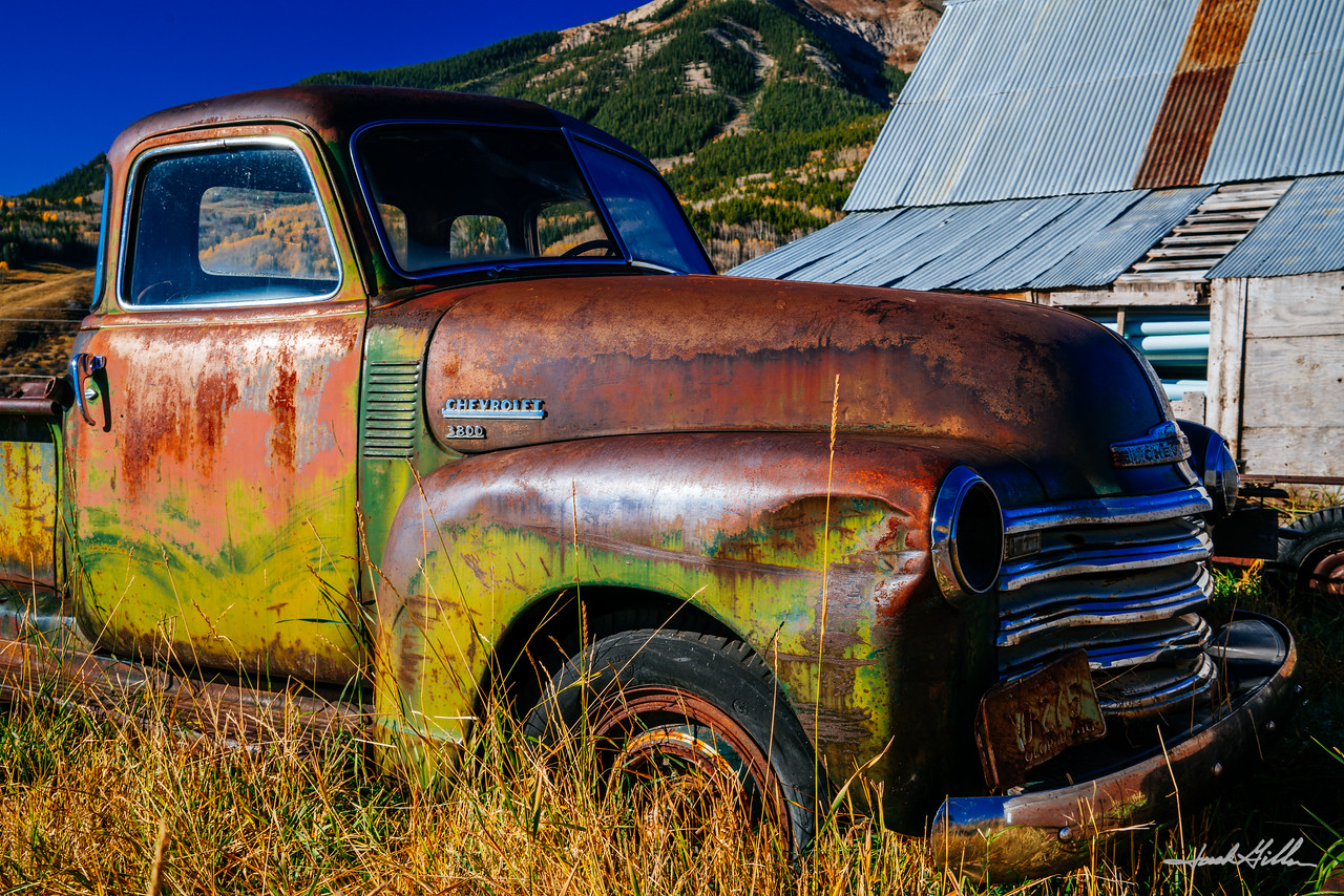Classic remains of a Chevy Pickup