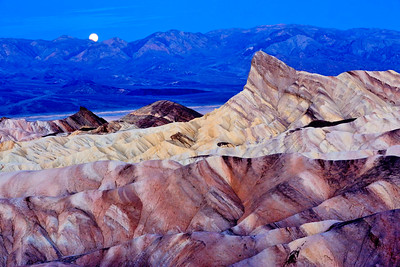 Moonset From Zabriskie Point