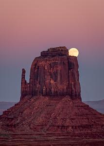 Full Moon Behind Mitten