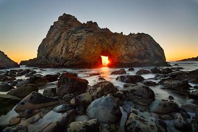Keyhole Arch Sunset