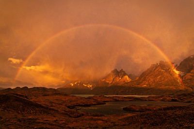Sunrise Rainbow, Torres del Paine National Park