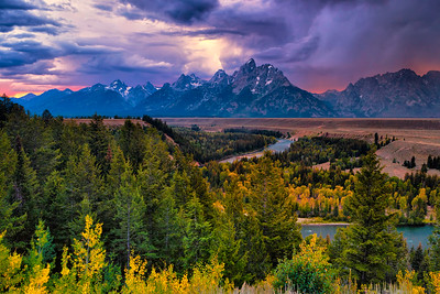 Stormy Evening, Snake River Overlook