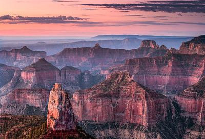 Dawn at Imperial Point, Mt. Hayden, Grand Canyon