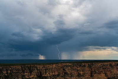 Lightning Stike Over South RIm