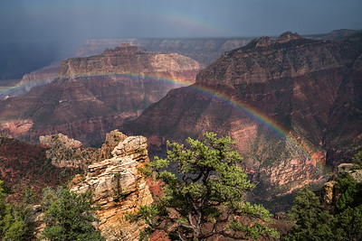 Double Rainbows Over Grand Canyon
