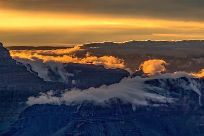 Sunset Lit Clouds at Hopi Point