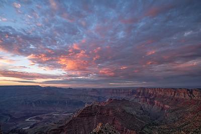 Sunset Light Over Colorado River
