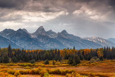 Storm Clouds Over Teton Range