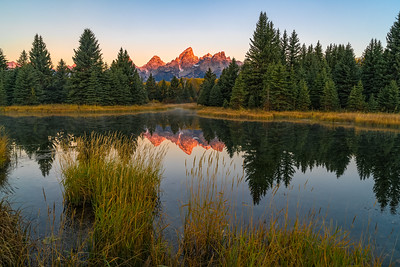 First Light on Teton Range