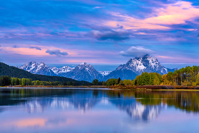 Dawn at Oxbow Bend, Grand Tetons