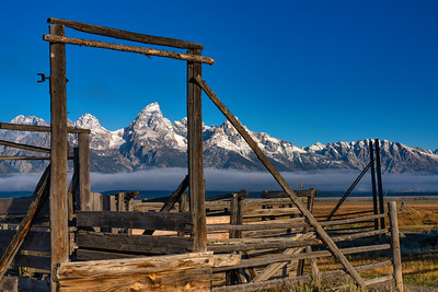 Old Corral and Grand Teton Range