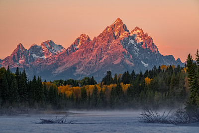 Fall Morniing Along Teton Range