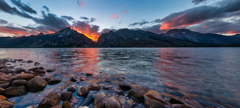 Jenny Lake Sunset, Grand Teton
