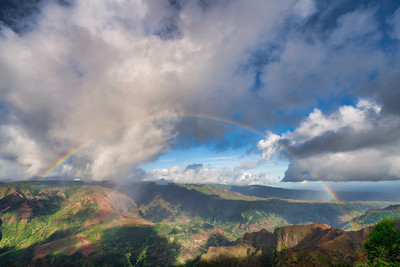 Rainbow Over Waimea Canyon