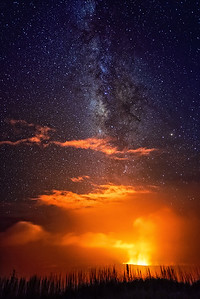 Milky Way Over Kilauea Caldera
