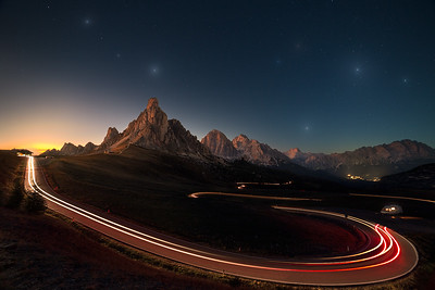 Twilight in the Dolomites
