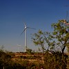 Modern windmills in West Texas - quite a departure from the windmills that are normal in this rural part of the state.