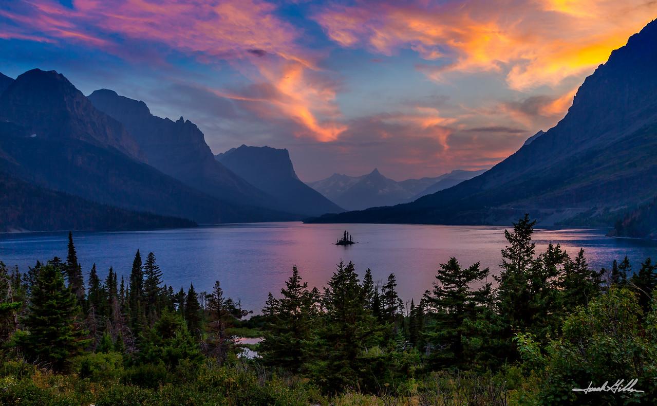 Sunset on Lake Mary's