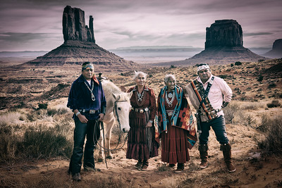 Navajo Family, Monument Valley