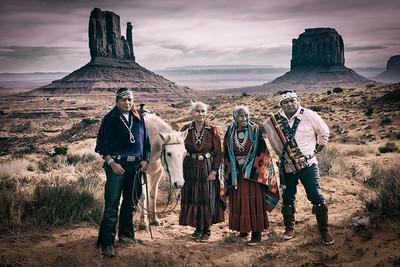 Navajo Family, Monument Valley