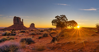 Sunrise and Mittens, Monument Valley